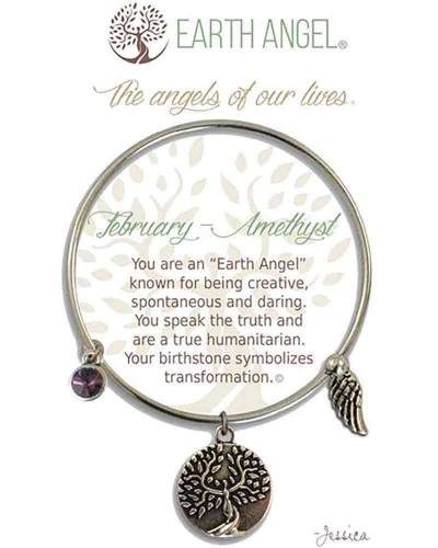 February Amethyst Angels of Our Lives Bracelet