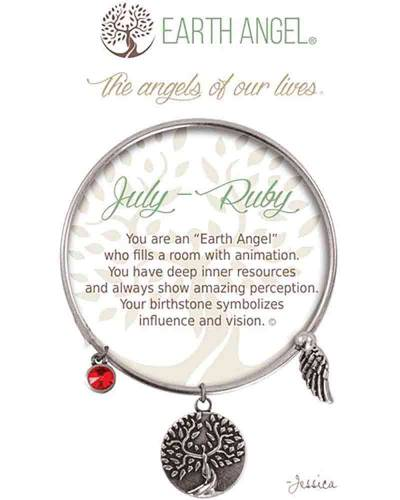 July Ruby Angels of Our Lives Bracelet