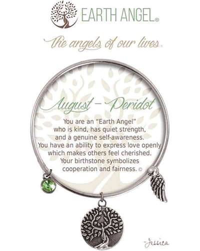 August Peridot Angels of Our Lives Bracelet