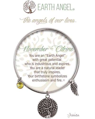 November Citrine Angels of Our Lives Bracelet