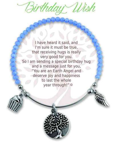 Birthday Wish Angels of Our Lives Radiant Stone Bracelet in Blue