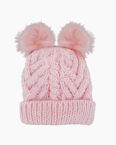 Blush Pink Fluffer Beanie Hat