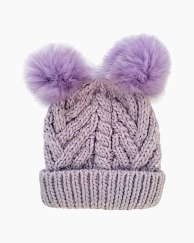 Lilac Fluffer Beanie Hat