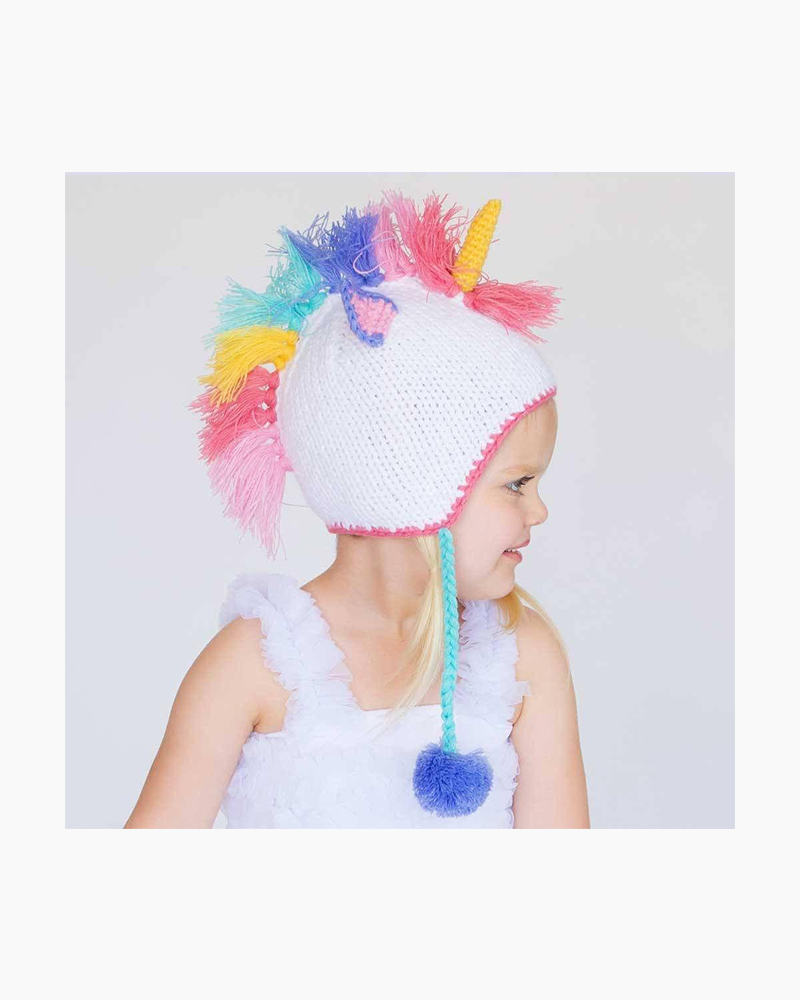 Unicorn Pastel Earflap Baby Beanie Cap Alternate View 4e8171cd8e1