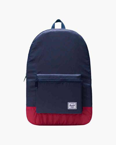 Packable Daypack in Navy/Red