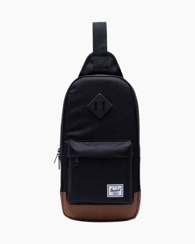 Heritage Shoulder Bag in Black