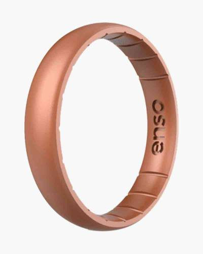 Thin Elements Silicone Ring in Copper