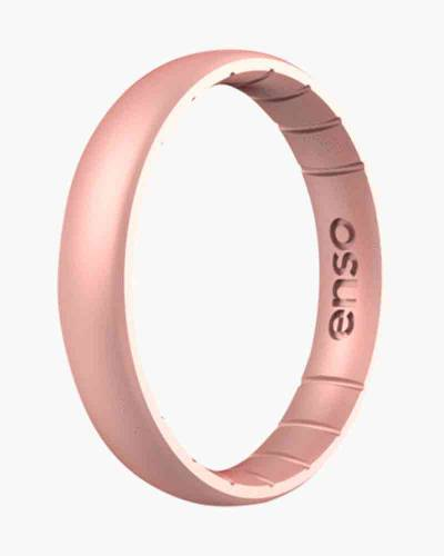 Thin Elements Silicone Ring in Rose Gold