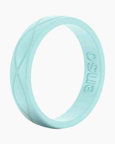 Women's Infinity Silicone Ring in Turquoise