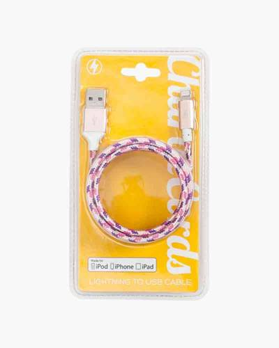 Purple Rose Gold Lightning Cable Charging Cord
