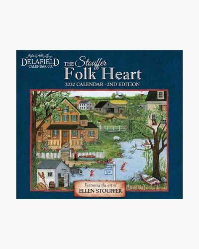 The Stouffer Folk Heart 2020 Wall Calendar