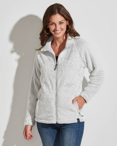 Exclusive Fuzzy Jacket in White Heather