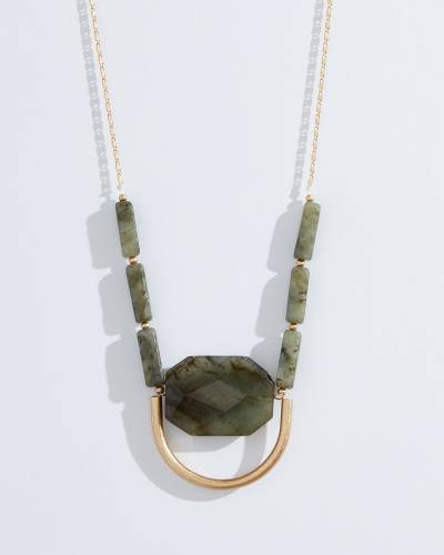 Exclusive Labradorite Stone Statement Necklace