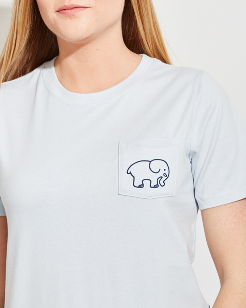 1caf99bca Ella Fit Organic Moonstone Feathers Elephant Logo Tee Alternate View