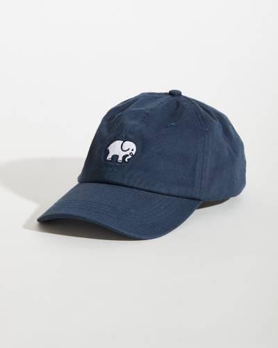 Navy Blue Elephant Logo Baseball Cap