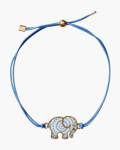 Periwinkle Corded Ella Elephant Charm Bracelet