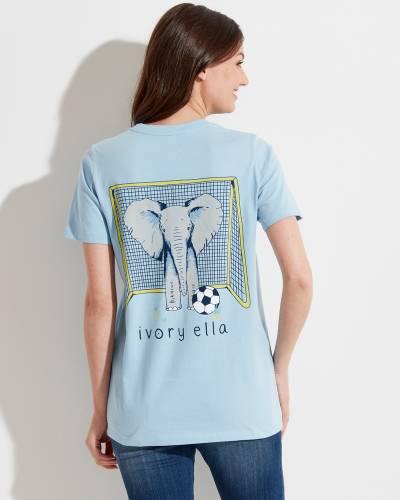 Ella Fit Powder Blue Soccer Tee