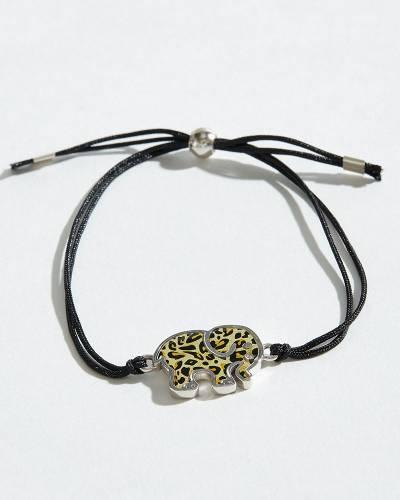 Leopard Pattern Corded Bracelet