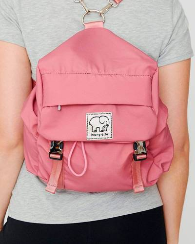 Mini Backpack in Mauvewood