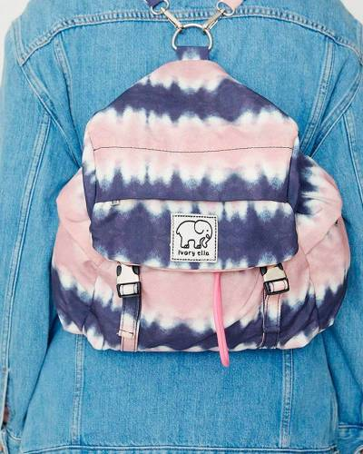 Mini Backpack in Tie Dye Pink