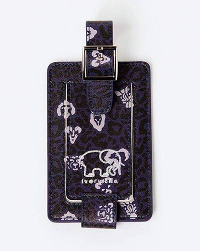 Luggage Tag in Leopard Print
