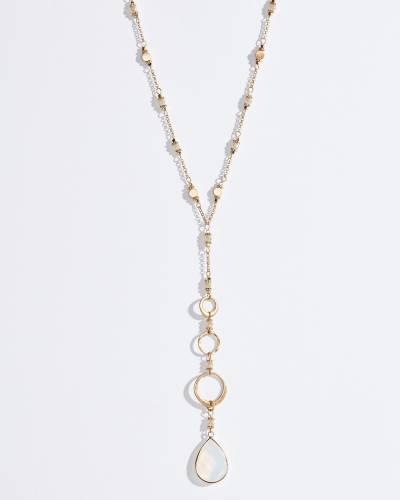 Exclusive Opal Teardrop Long Y-Necklace
