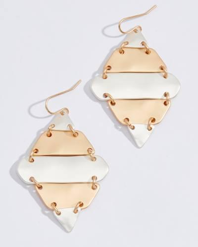 Two-Tone Segmented Diamond Earrings