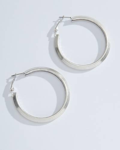 Thick Grooved Hoop Earrings