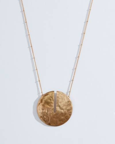 Exclusive Circular Slit Necklace in Gold