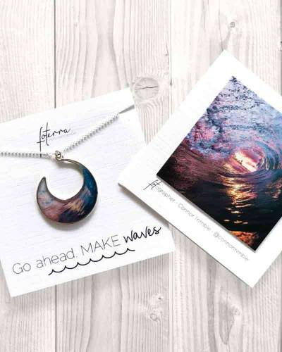 Go Ahead. Make Waves Necklace in Silver