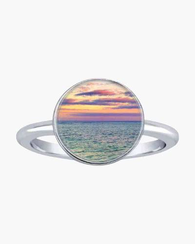 Oh To Be Where The Sky Meets The Sea Stacking Ring in Silver