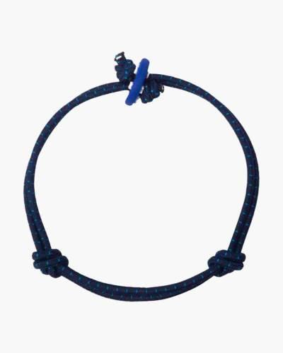 Wisdom Dark Blue with Dots Cord Mood Bracelet