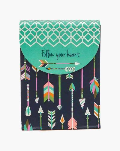 Follow Your Heart Arrow Purse Notepad