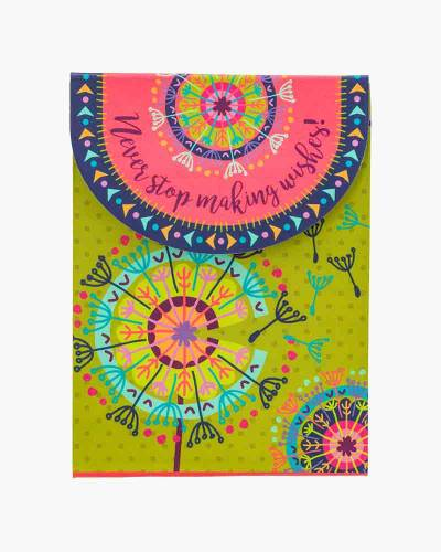 Never Stop Making Wishes Dandelion Purse Notepad