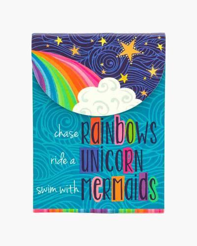 Rainbows Unicorns Mermaids Purse Notepad
