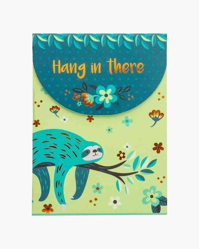 Hang in There Sloth Purse Notepad