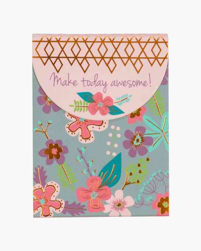 Make Today Awesome Floral Purse Notepad