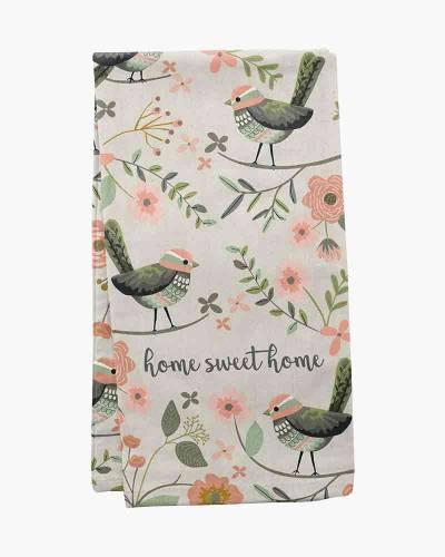 Home Sweet Home Birds Tea Towel