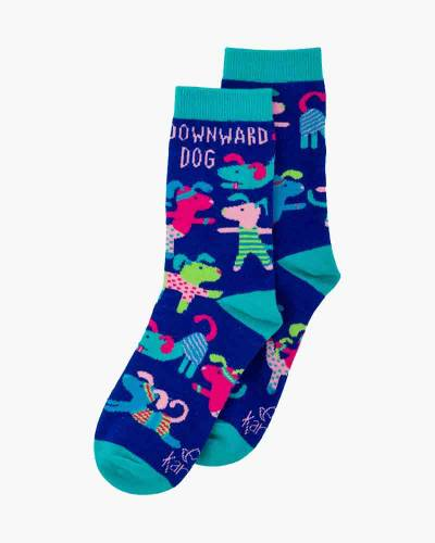 Downward Dog Crew Socks