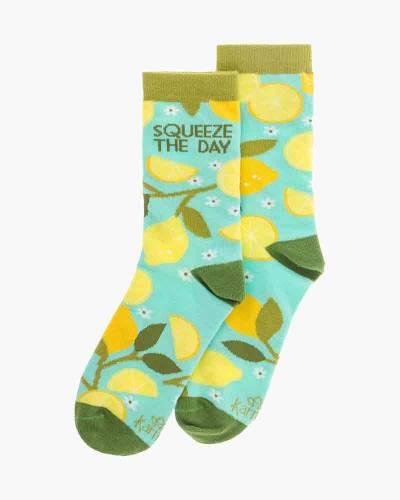 Squeeze the Day Lemon Tree Crew Socks