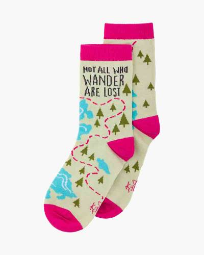 Not All Who Wander Are Lost Crew Socks