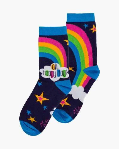 24be951ae Karma Gifts Happy Day Rainbow Crew Socks