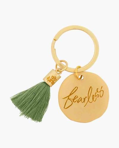 Fearless Round Tassel Keychain