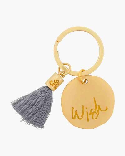 Wish Round Tassel Keychain