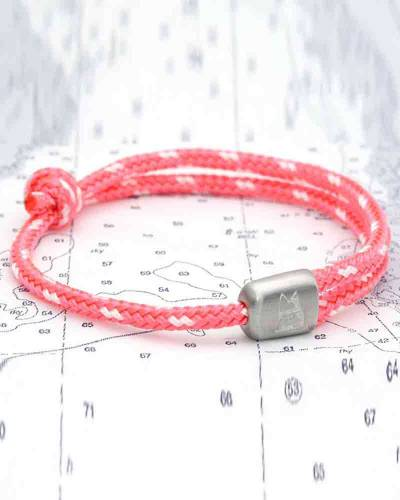 Cuttyhunk Bracelet in Coral and Salt