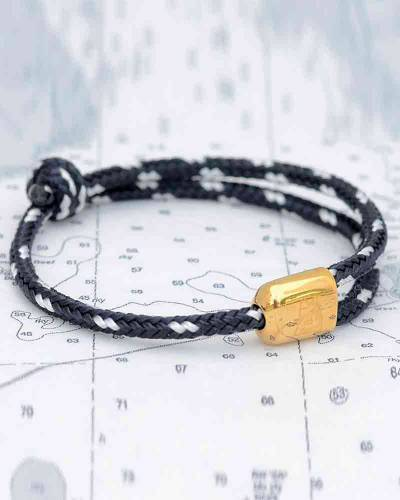 Limited Edition Cuttyhunk Bracelet in Navy and White