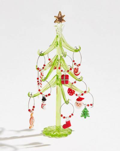 Exclusive Wine Charm Tree with 12 Charms