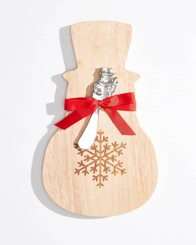 Exclusive Holiday Snowman Spreader and Napkin Dish