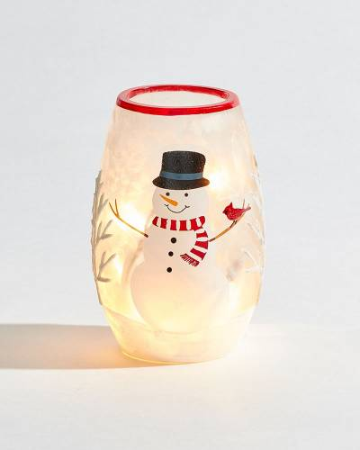 Exclusive Snowman Light-up Small Vase