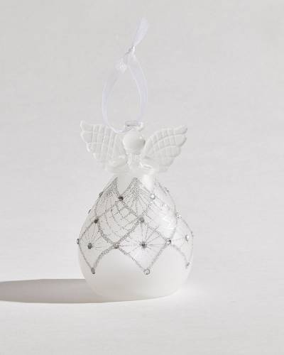 Exclusive Lace Angel Glass LED Ornament